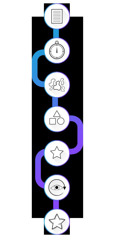 logo ontwerp proces azemble
