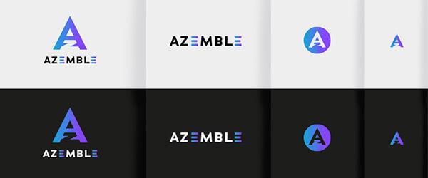 responsive logo azemble zorgt ervoor dat het logo herkenbaar is ook in kleinere formaten